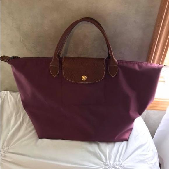 9757998c70 Longchamp Bags | Medium Size Short Handle Bag Magenta | Poshmark